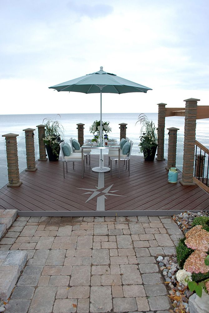 13 best waterfront designs images on pinterest cover for Waterfront deck designs