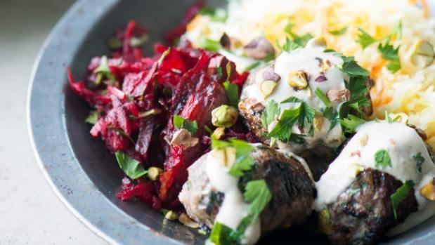 Recipes: Lamb koftas with tahini sauce, beetroot and date salad | Stuff.co.nz