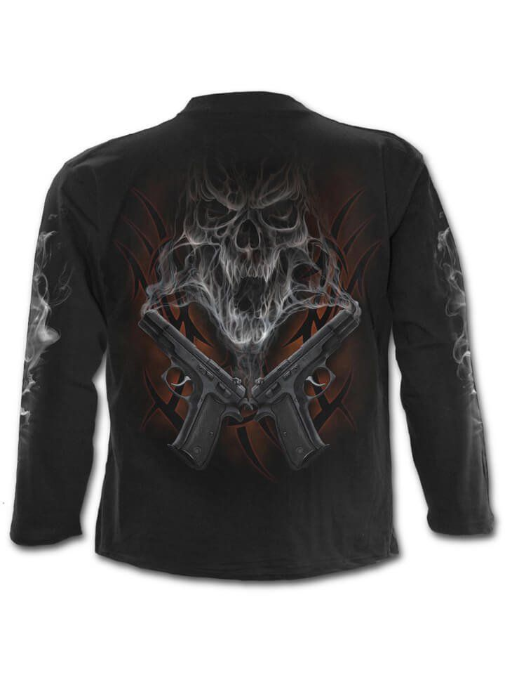 """Men's """"Street Reaper"""" L/S Tee by Spiral USA (Black) 