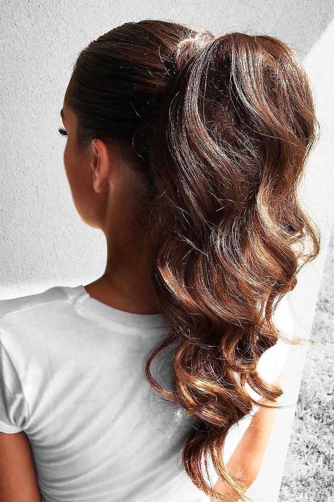 easy ponytail styles for long hair 25 best ideas about high ponytail hairstyles on 7794 | b220ffa5632b29798129011a758e08fb