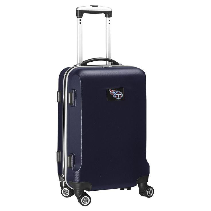 NFL Tennessee Titans Mojo Carry-On Hardcase Spinner Luggage - Navy