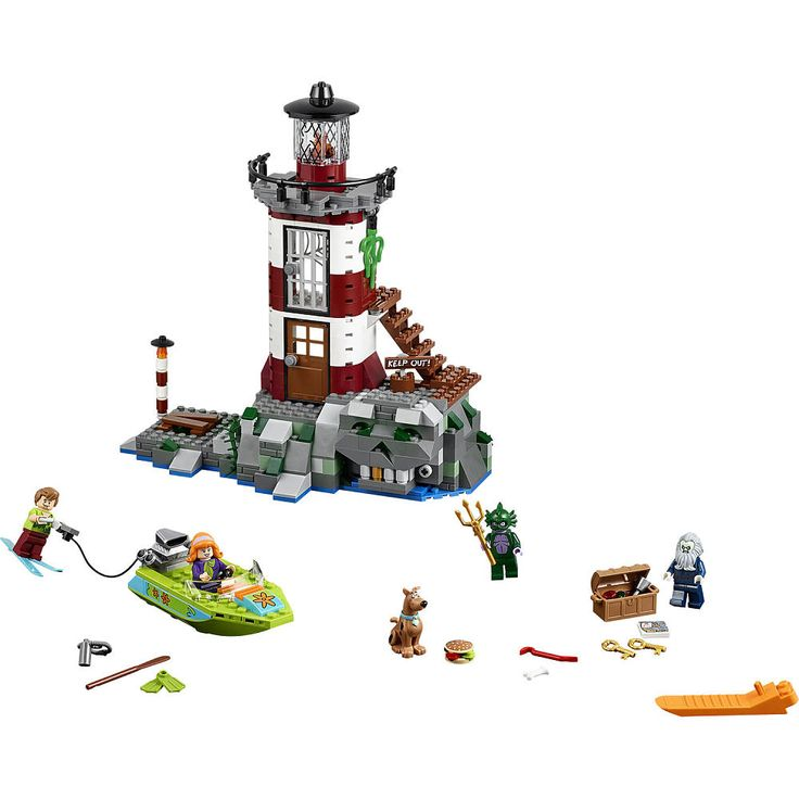 Investigate the creepy Haunted Lighthouse with Scooby-Doo and the gang! Steer the boat with Daphne and Scooby, while Shaggy rides the water skis. Dock at the foot of the rocks, by the light pole. Move the planks with the crowbar and reveal the map with the clue to find the golden key. But beware! The Lighthouse Keeper and Swamp Monster have been hiding in the skull cave and are ready to ambush meddling kids. Battle past them, avoiding capture in the prison. When you reach the top of the…