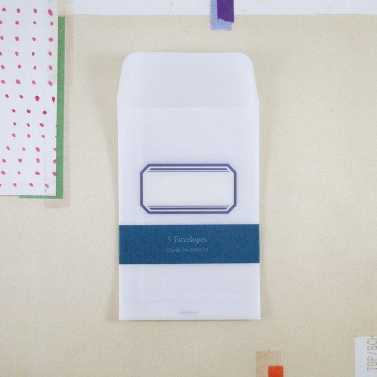 Tracing Paper Envelopes & Label Stickers - 5 pcs