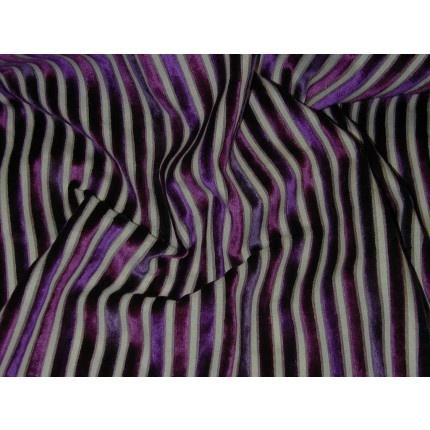 Verona Velvet Stripe Aubergine Curtain & Upholstery Fabric - The Millshop Online