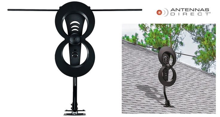 Antennas Direct Clearstream 2MAX Indoor/Outdoor HDTV Antenna with 60+ Mile Range