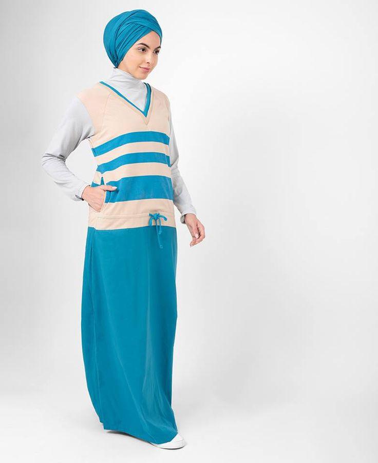 Striped Drawstring Jilbab   SilkRoute   My Online Souk   www.myonlinesouk.co.za