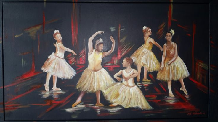 Danzando - olio su tela 40x60