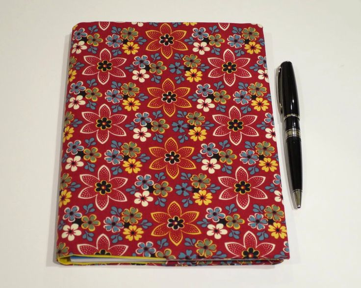 Fabric Book Cover, Suits A5 Notebook, Bonus Notebook Included, Red Floral Book Cover, Bright Book Cover, Bold Colourful Notebook, Small Gift by JadoreBooks on Etsy https://www.etsy.com/au/listing/466956669/fabric-book-cover-suits-a5-notebook