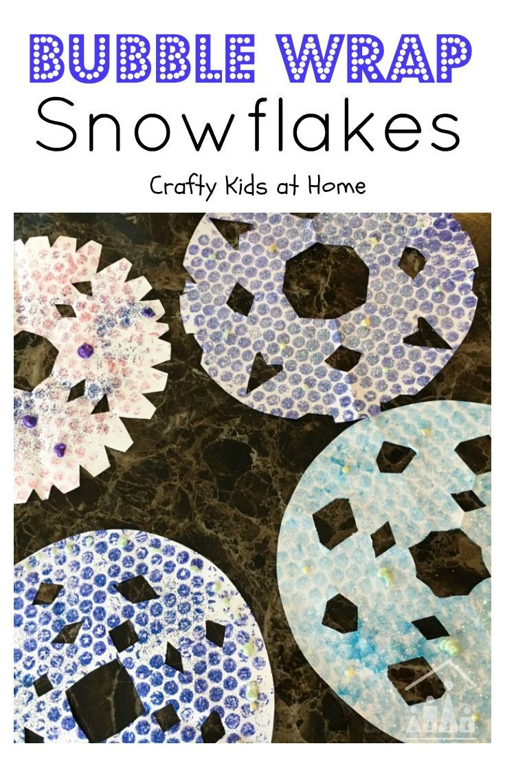 Some kids arts and crafts activities never go out of fashion. Add a new twist to a Winter classic when you make our Bubble Wrap Snowflake Art Project with your kids.