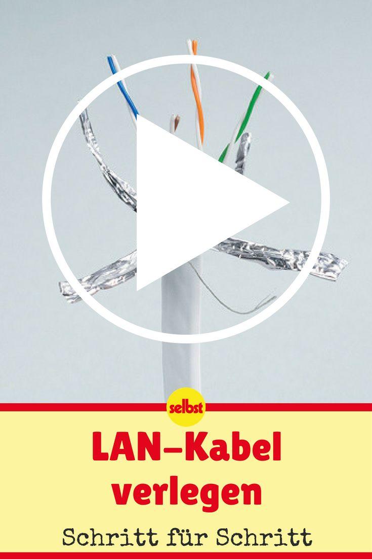 Netzwerkkabel ermöglichen Datenverbindungen zwischen Computern und Zubehör. Wir zeigen dir, wie du das Kabel verlegst!  #kabel #internet #computer #videos #videotutorial #diy #selbermachen