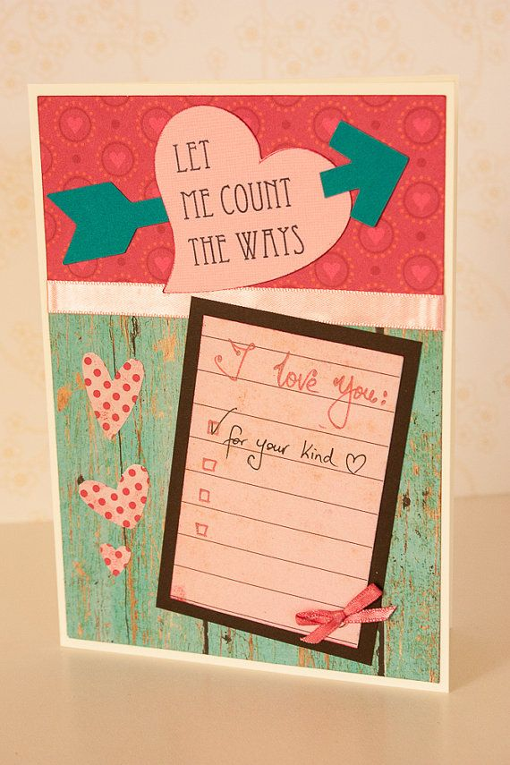 Creative Valentine's Day Card Let Me Count by BeautyfromashesUSA