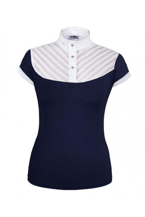 Fair Play wedstrijdshirt Helen •Fair Play shirt van een ademende en vocht opnemende stof. •De bovenkraag van het shirt is afgewerkt met een lichte kanten stof.