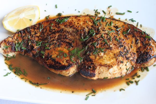 Pan Seared Swordfish - use Bulletin Place Pinot Grigio