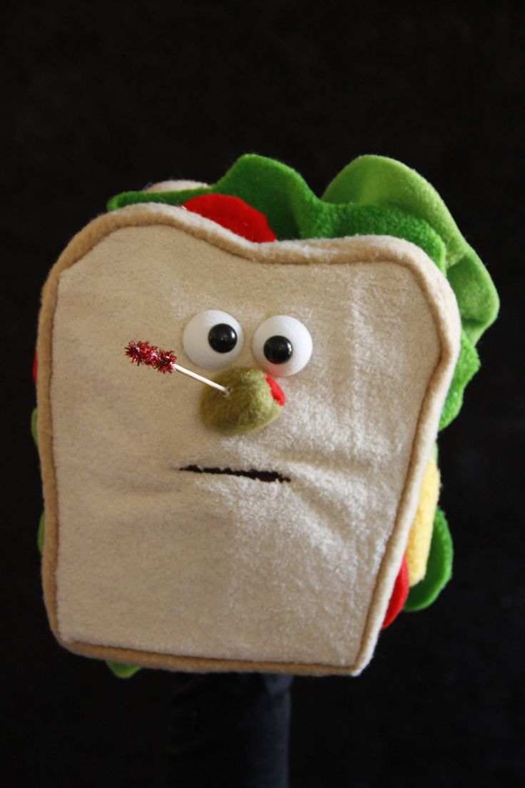 Sammy the Sandwich, Professional Hand Puppet, Ventriloquist Puppet.