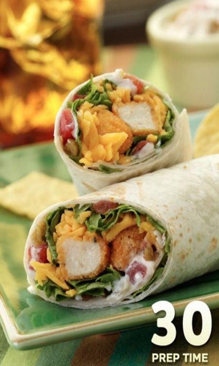 Spicy Crunchy Chicken Wraps