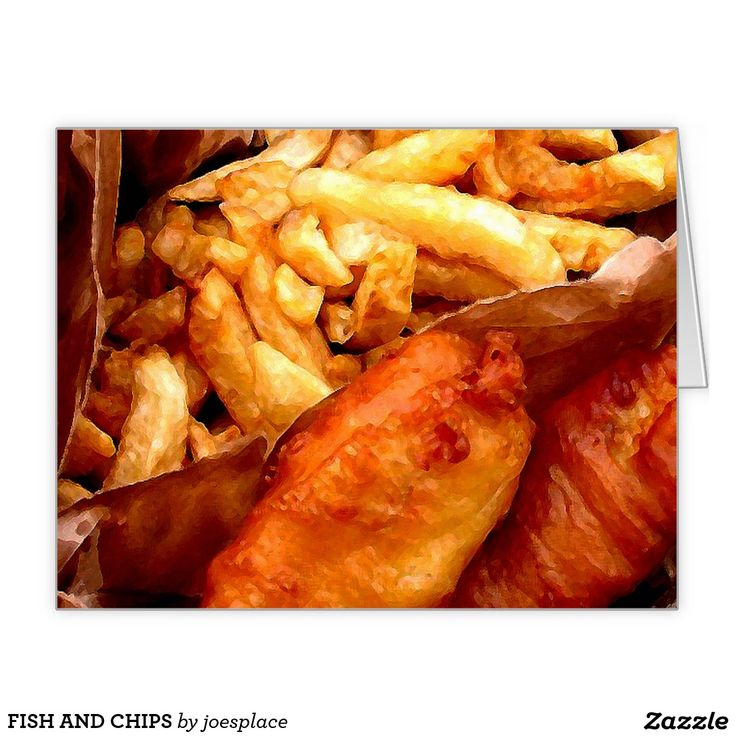 Greeting cards fish and chips greeting card and fish for Eds fish and chips