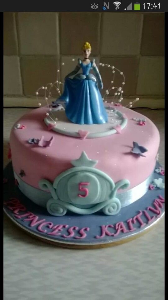 Disney Princess cinderella cake.