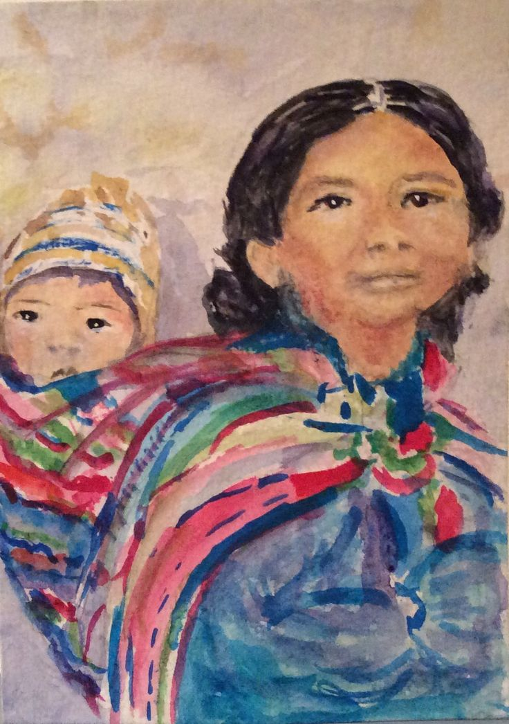 Peru 1 watercolor