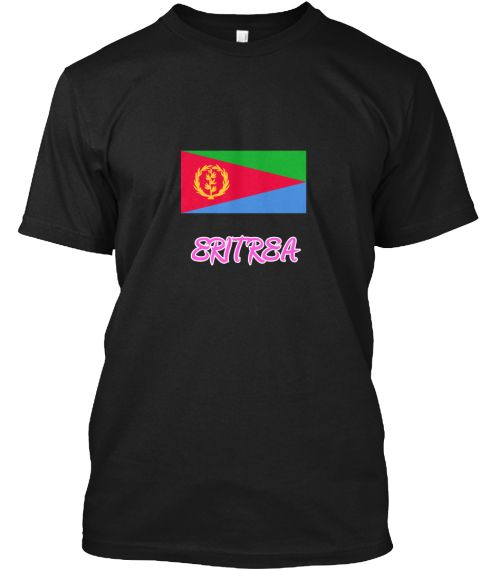 Eritrea Flag Artistic Pink Design Black T-Shirt Front - This is the perfect gift for someone who loves Eritrea. Thank you for visiting my page (Related terms: I Heart Eritrea,Eritrea,Eritrean,Eritrea Travel,I Love My Country,Eritrea Flag, Eritrea Map,Eritrea  #Eritrea, #Eritreashirts...)