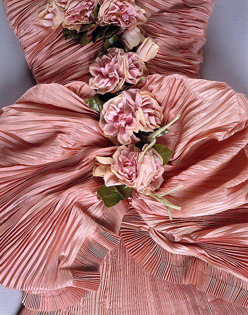 Balenciaga - Vintage - Robe de Soirée 'Bustier' - Plissée et Drapée - 1948