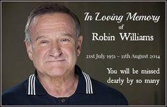 In loving memory of Robin Williams actor in memory rip robin williams