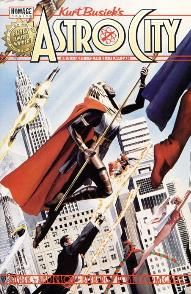 "Probably my favorite series.  Creates own world and explores what common super-hero tropes would mean for the ""every-man."""