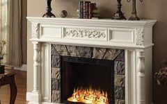 """Fake Fireplaces For Sale Get 62"""" White Finish Grand Electric Fireplace On Sale Today At"""