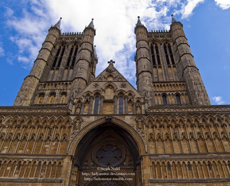 The two towers of Lincoln Cathedral