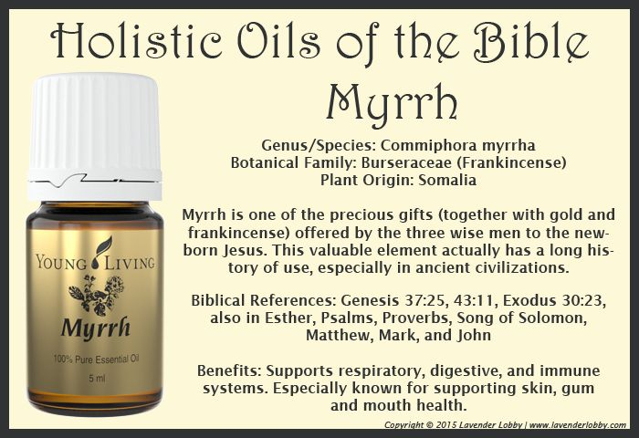 Young Living Essential Oils:  Myrrh Holistic Oils of the Bible Twelve Oils of Ancient Scripture