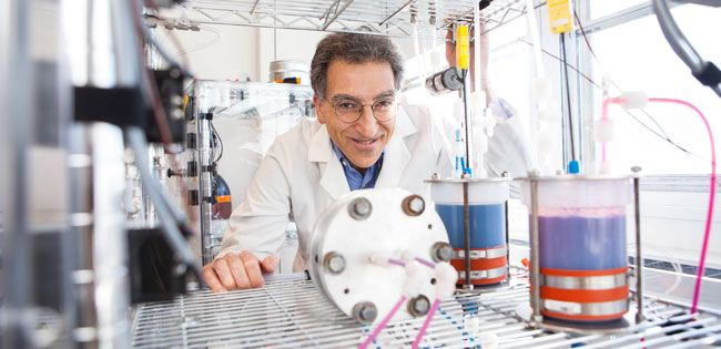 Michael Aziz and flow battery # Michael Aziz (pictured) and coworkers have announced improvements to flow battery technology they reported in 2014. (Credit: Eliza Grinnell/Harvard SEAS Communications) SEP 24, 2015 @ 02:02 PM