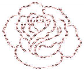 Roos   Bloemen en Planten   glittermotifs