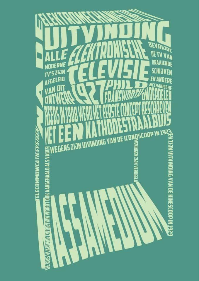 Typografische poster / Televisietoestel / Sien Verhavert ©