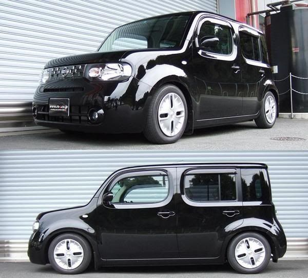 Cutest car ever right before your eyes! Wow. You should feel honoured! Nissan Cube 2013
