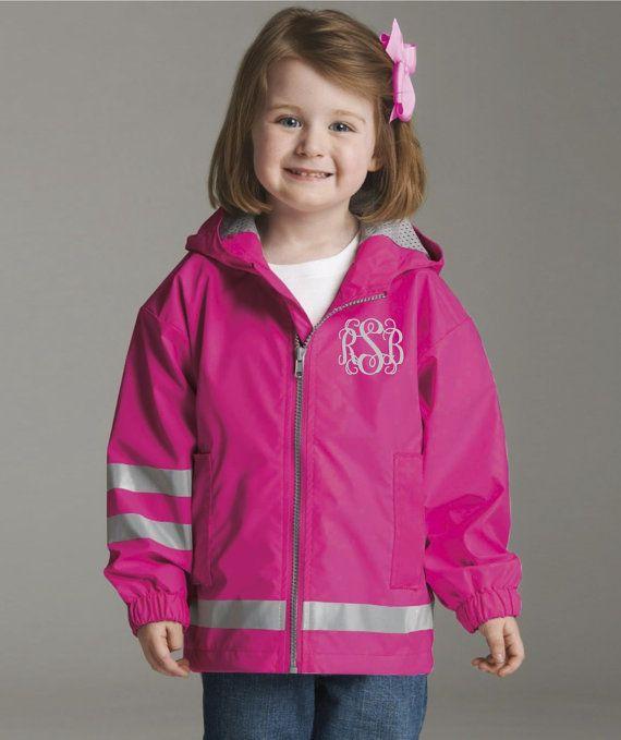 Toddler Monogram Rain Jacket Monogrammed gifts Little