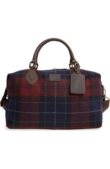 Barbour Plaid Wool Duffel Bag