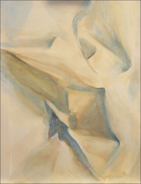 Crumpled Paper Study By Peg Taylor Wrinkled Paper Painting
