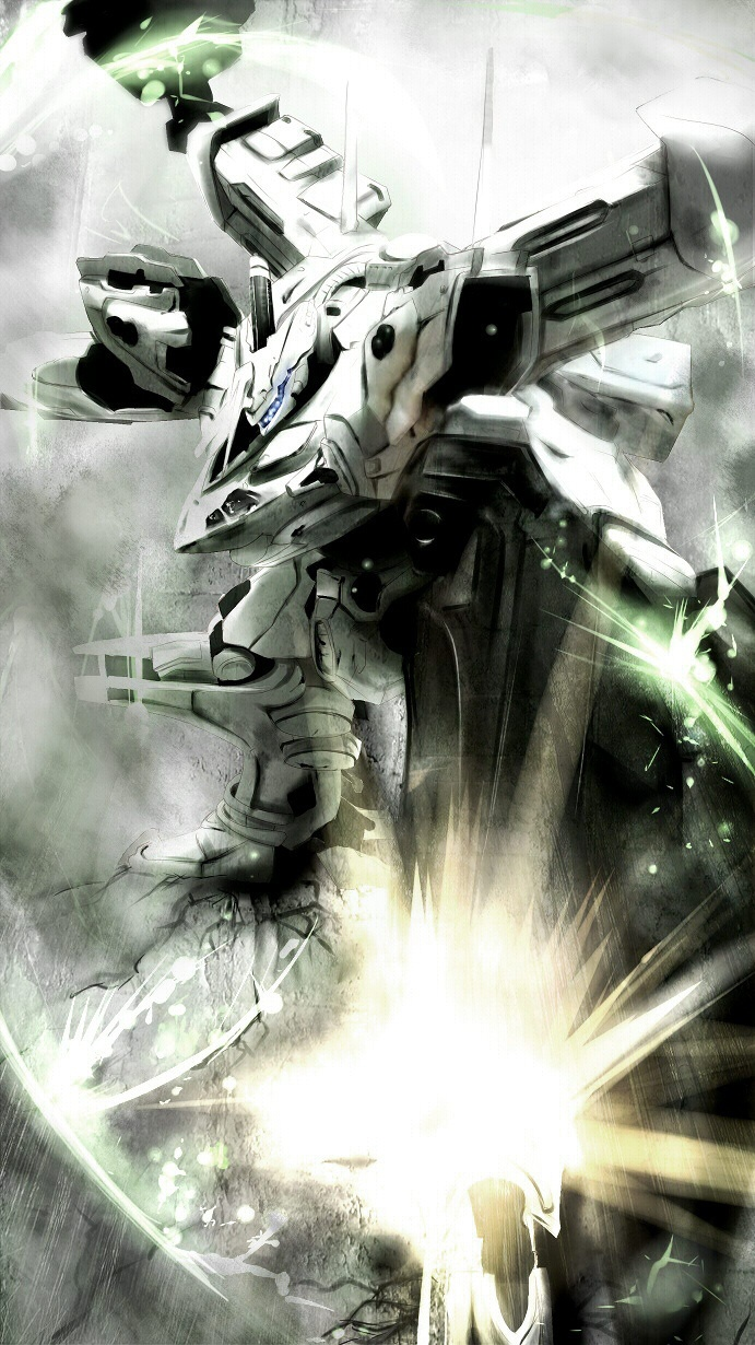 """WHITE-GLINT"" Armored Core fanart by MISSLE228"