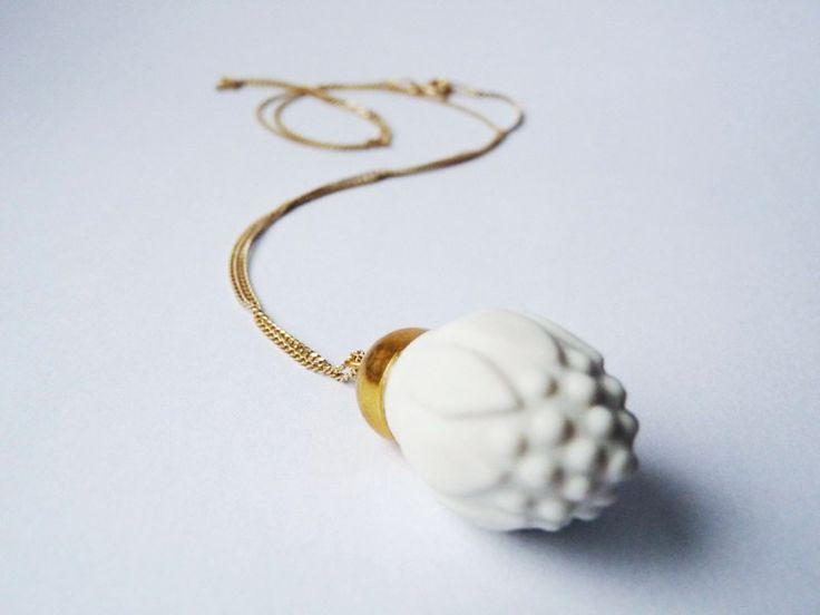 artichoke porcelain pendant to buy here: https://www.facebook.com/emwustudio