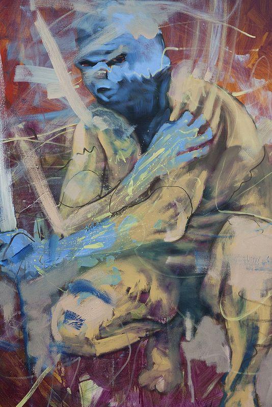 Extraordinrius - selfportrai  Artista: Bartosz Beda, óleo sobre lienzo, 183x153, 2014  Artist: Bartosz Beda, oil on canvas, 183x153 cm, 2014  #art #arte #contemporaryartwork #pintura #paint #bac #dibujo #drawing
