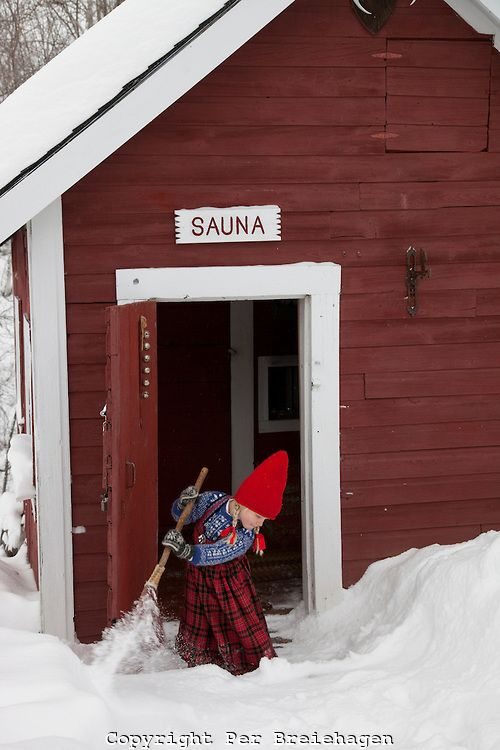 Sweeping the sauna