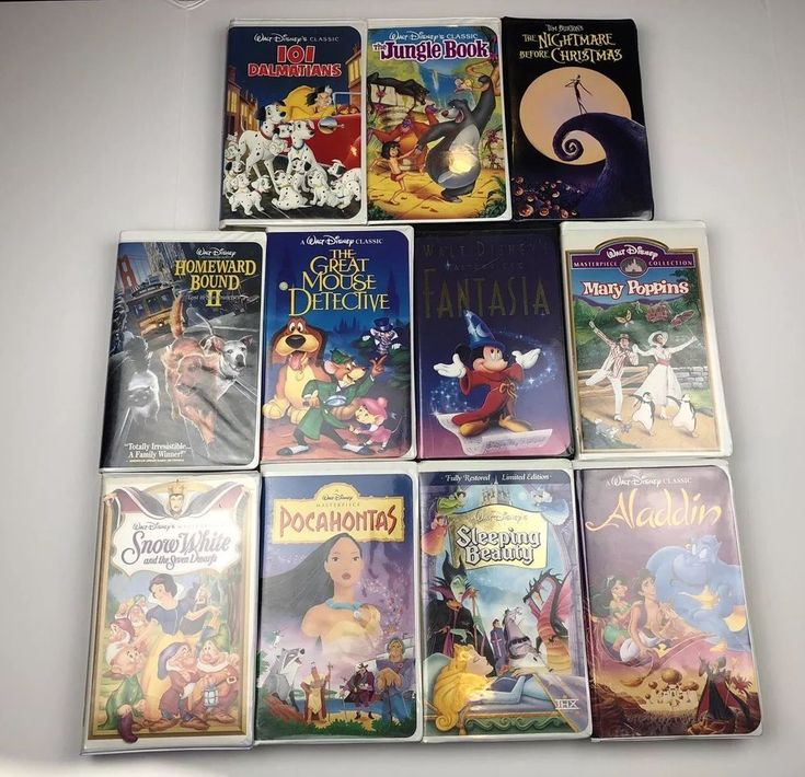 Disney Black Diamond Classic Clamshell Mixed VHS Tapes Lot of 11