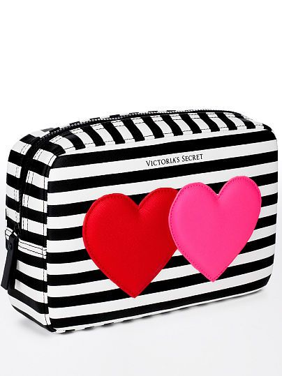 Victoria's Secret Hearts Large Cosmetic Bag - I just acquired this. Very large, so cute.