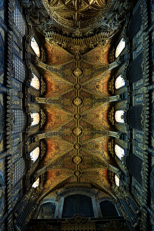 Ceiling of Church Santa Clara, #Porto #Portugal. By João Zero
