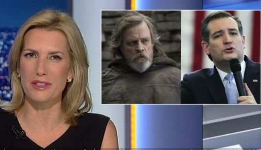 Laura Ingraham does Yoda, mocks Mark Hamill for getting hit with giant Cruz missile