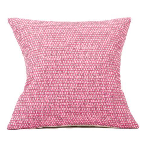 Merino Lambswool Cushion – Made in England – Classic Clarendon Grey on Hot Pink Cushion - Tori Murphy Ltd