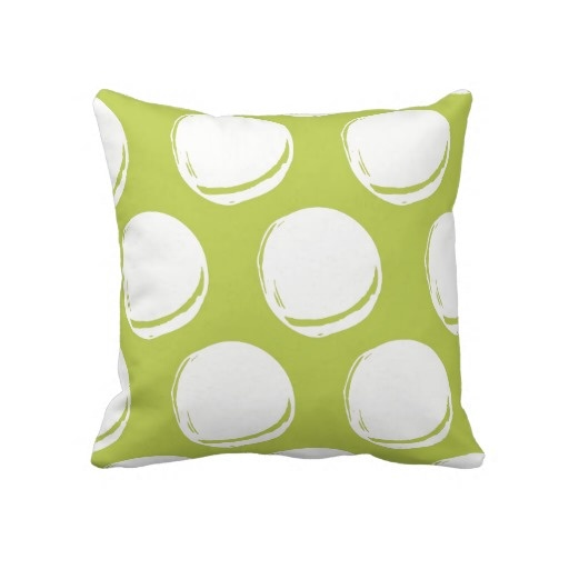 Pretty Lime Green Abstract Circles Pattern Throw Pillow Lime Green Throw Pillows Pinterest ...