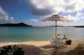 Lad The Ritz-Carlton på St. Thomas arrangere en romantisk Dinner on the beach for jer
