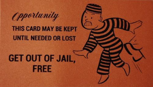 Get out of jail free card for Get out of jail free card template