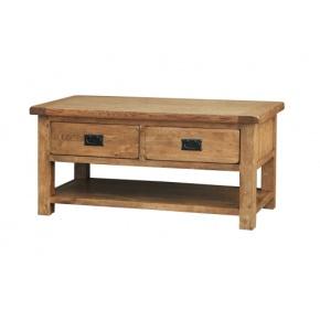 Rustic Solid Oak SRDT15 Coffee Table  www.easyfurn.co.uk