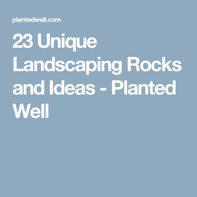 23 Unique Landscaping Rocks and Ideas - Planted Well
